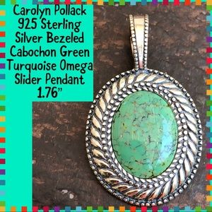 Carolyn Pollack 925 Sterling Turquoise Pendant